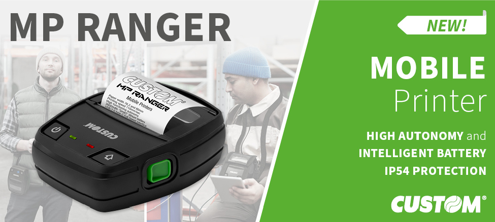 Custom presents MP Ranger, the new mobile printer for receipts/labels