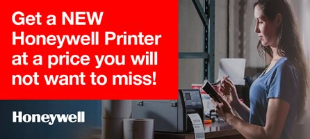 Trade in. Get a new Honeywell printer with up to 450euro additional discount.